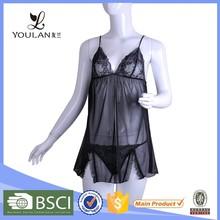 OEM Service Monotonous Black Elasticity Ladies Bra And Panties Sex School Girl Lingerie