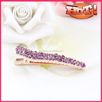 wholesale crocodile shape rhinestone ladies fancy hair clips