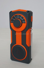 new style sports car hand crank AM/FM NOAA weather band radio flashlight