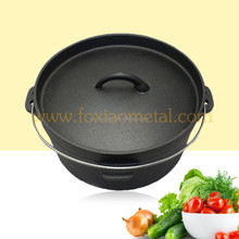 black oil plant pre seasoned cast iron dutch oven/outdoor cookware/camping ware