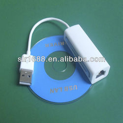 White USB Male to RJ45 Female Fast(100Mbps) Ethernet Connection Data Cable Driver