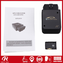 TR09 OBD II online real time obd gps tracker with sim card tracking
