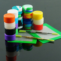 Eco-Friendly Storage Use and Storage Bottles silicone jars dab wax container,butane hash oil silicone container