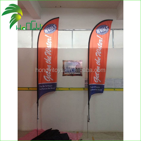 2015 Hot Selling Customized Advertising Beach Flag