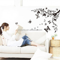 zooyooPB7005pvc removable wall decal wall papers home decoration flower decoration wall sticker art 3d decal sticker
