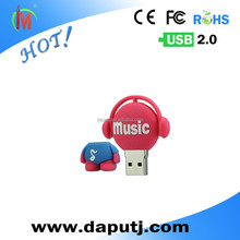 Guaranteed full capacity Music baby Kids USB Flash Drive 1GB 2GB 4GB 8GB 16GB gift