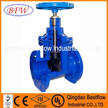 AWWA C509/BS5163/DIN3352 Mss sp stem gate valve pn16