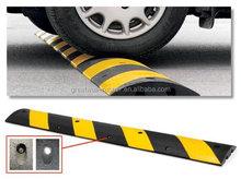 "6' High Density Polyethylene Speed Bump , Yellow and Black, 72"" Length, 10"" Width, 2"" Height"