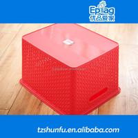 2015 plastic laundry basket with lid,plastic picnic basket,plastic shopping basket
