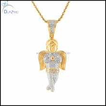 Fashoin mini crystal angel pendant