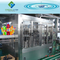 Automatic PET Bottle CSD Packaging Line / Carbonated Drink Filling Machine