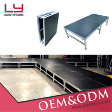 TUV Certificated LY-ST001 1*2M Aluminum Stage Folding Portable Stage,.Outdoor Portable Stage, Used Stage For SALE