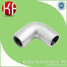 UL standard BS4568 galvanized metric 90 degree rigid steel conduit corner elbow for pipe connection