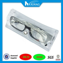 Clear PVC Vinyl Plastic Soft Case Pouch for Eyeglass Glasses
