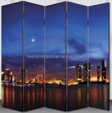 City night scenery folding room divider