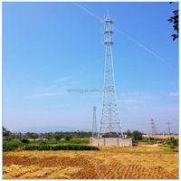 Multi-platform telecommunication lattice monopole steel tower