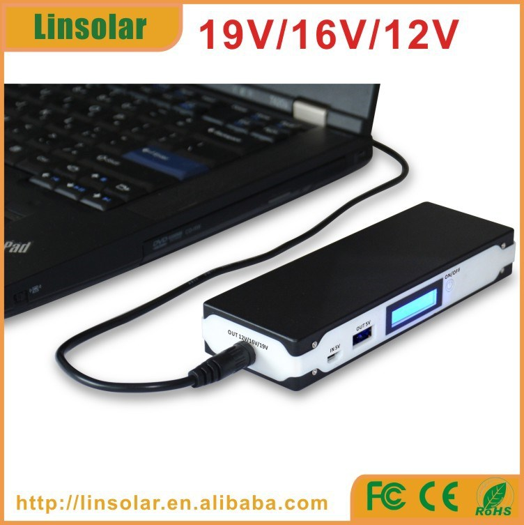 Cheap Price Lcd 6600mah Laptop Power Bank Charger 19v For