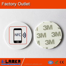 NFC small coin card for batch order, customized design, logo or name printing, M3 sticker, fatest production and delivery,