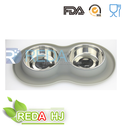 Promotional pet production of stainless steel dog bowl