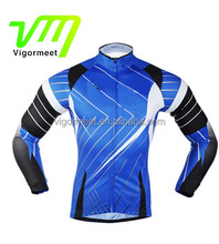 unisex 3 Rear-pockets Long Sleeves Cycling Jersey with Non-Slip Silicone Band Outdoor Bike Bicycle Clothing