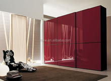 lacquer wine red bedroom Wardrobe with 2 doors in cheap price