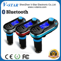 2015 Hot Products !!!Car Bluetooth RDS fm transmitter, 1.5 inch blue screen display song name, supports remote control