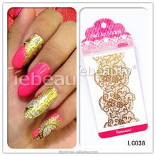 2015 Dearbeauty Custom nail art accessory /Gold nail tattoo /Water transfer 2D nail art decal