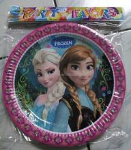 frozen Theme cartoon cake disposable plate wedding party supplies favors 10pcs/ Set
