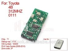 Auto clave para toyota smart tarjeta junta 4 312 llave de frecuencia 0111-jp número