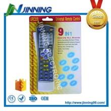 blister & packaging chip ic universal remote control for rohs tv, 8 in 1 universal remote control