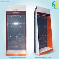 free standing floor display paper ipad case display stand for promotion