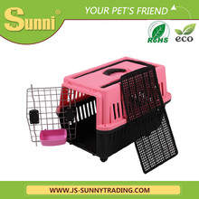 Dog carrier plastic outdoor dog kennels with wheels