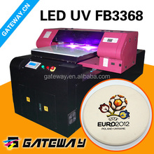 uv flatbed printer with special programme rip software and lcd screen