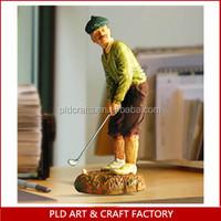 Resin golf figurine statue