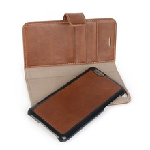Functional Removable Magnetic Leather Mobile Phone Cases for iPhone