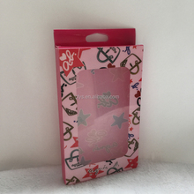 Guangzhou factory plastic PET/PVC/PP folding box for cell phone case, clear plastic packaging box for mobile phone cover