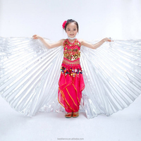 BestDance children belly dance isis wings kids dance costumes isis wings golden/silver isis wings OEM