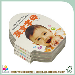 english learning book for kids children board book printing on demand