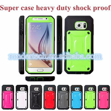 New Hybrid Silicone & PC Shell Armour phone case Shockproof heavy duty Case Cover for samsung S6