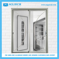Good price obscure glass Single tempered glass commercial aluminum entry doors