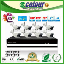 h.264 battery operated wireless cctv camera 8CH CCTV Surveillance Security NVR Kit(BE-6009SLIPWA)