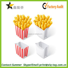 2015 China wholesale hot nature QS French fries paper bag cheap fine quality fast shipping