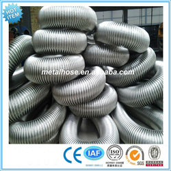 ss 201/304/316L steel grade flexible stainless steel bellows/corrugated sprial/annular hose