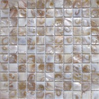 20mm*20mm Mother Of Pearl Mosaic White Square Tile/ Pure White hexagonal river shell mosaic tile