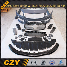 PP AMG Body kit for W176 A180 A200 A260 TO A45 AMG