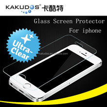 2.5D mobile full cover tempered glass screen protector guard for iphone 5 0.33mm ultra clear