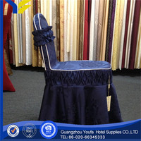 printed hot sale 100% cotton sandex/lycra shirred chair cover