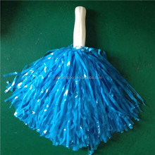 Blue Cheerleading Pom Poms - Standard Tinsel