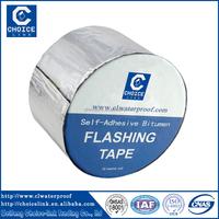 aluminium finished Self adhesive bitumen flashing tape/ bitumen sealing tape