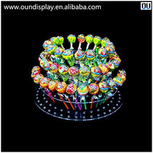 school party cap cake display stand clear acrylic lollipop candy display rack
